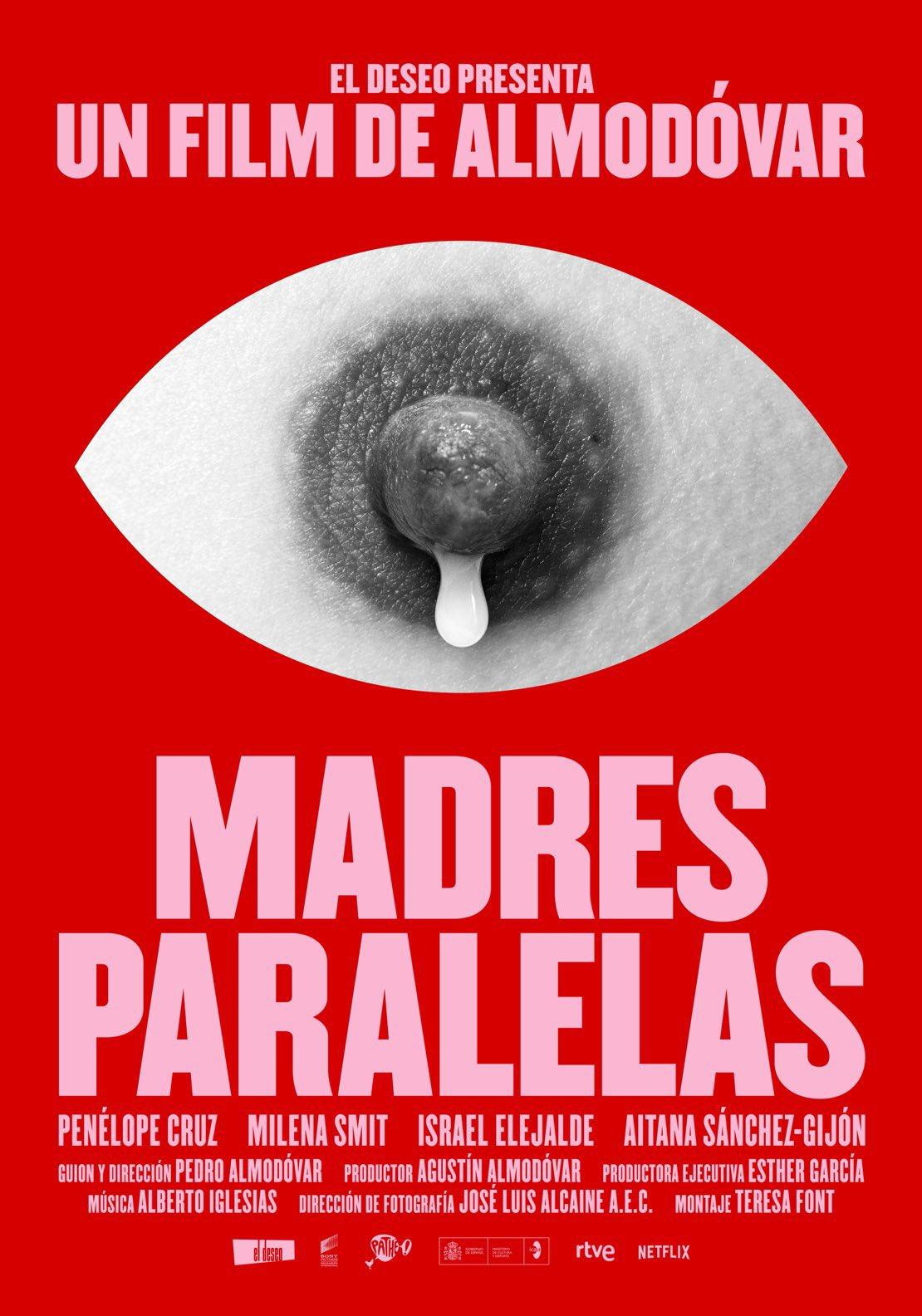 Un téton et basta : Almodóvar joue la provocante sobriété pour l'affiche de son film sur la maternité