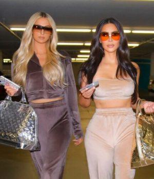 Paris-Hilton-et-Kim-Kardashian-se-jouent-du-retour-du-jogging-peau-de-pêche