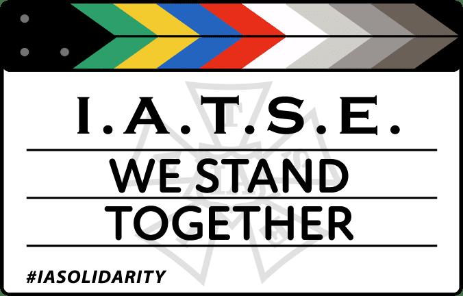 Visuel de l'IATSE appelant à la mobilisation