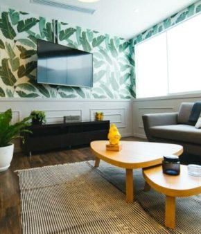 intérieur design avec un tapis