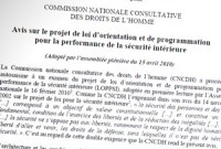 La Commission nationale des droits de l'Homme fustige la LOPPSI