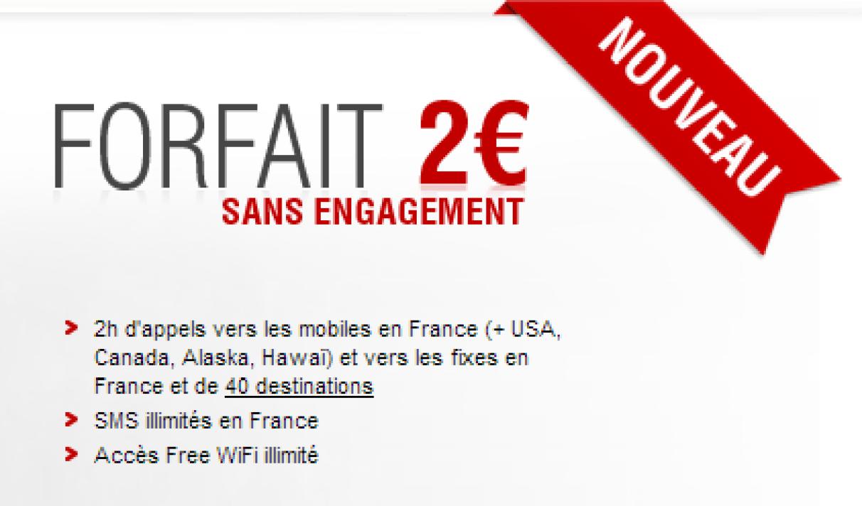 free passer du forfait 2 euros a 20 euros